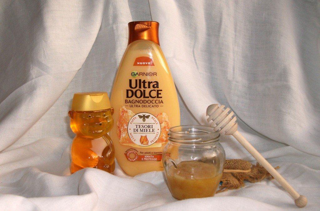 Garnier, novità, prodotti da bagno, bagnodoccia, estratti naturali, Ultra Dolce corpo, miele, Tesori di Miele, crema doccia