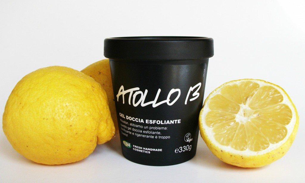 Lush, gel doccia esfoliante, scrub corpo, Atollo 13, review, vegan