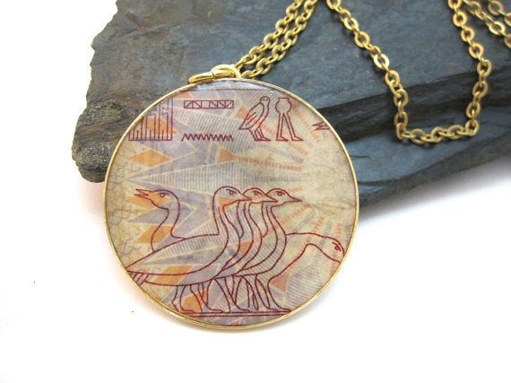 Urban-Raven-Shiran-Tal-recycled-Egyptian-stamp-necklace