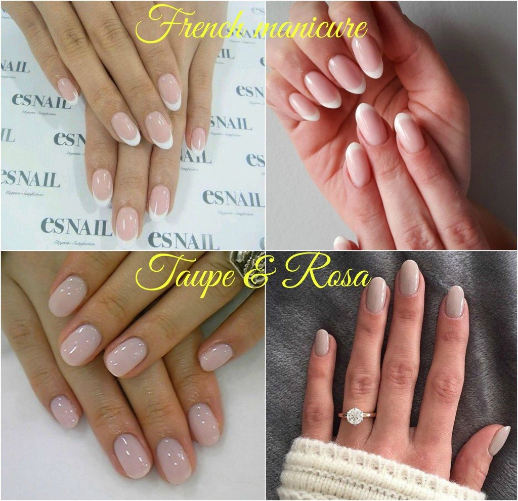 Idee-manicure-elegante-sposa-principessa-French-tortora-rosa-pallido-semipermanente