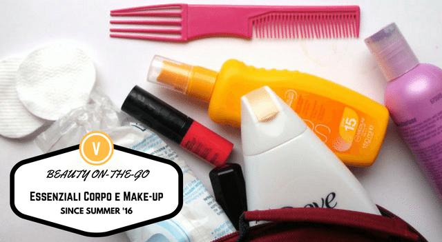 beauty on the go essenziali cura del viso, corpo e make-up