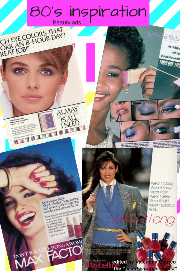 80's-makeup-look-inspiration-magazine-beauty-ads-pubblicità-isprazione-anni-80-look-Halloween