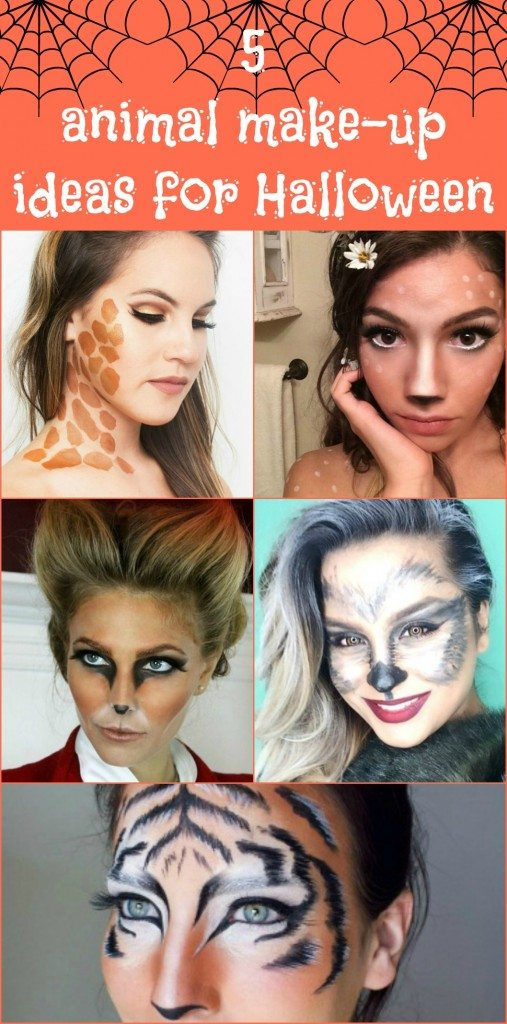 5 facili idee di make-up animalier per Halloween