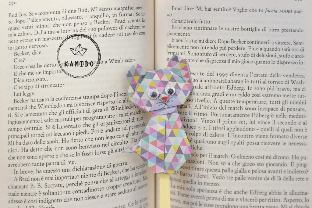 segnalibro-origami-gatto-KAMIDO-handmade-fatto-a-mano