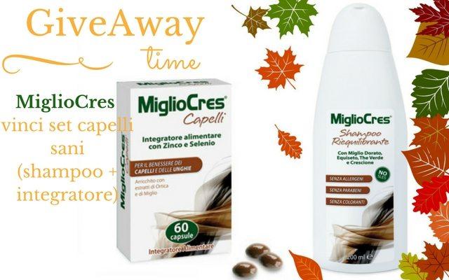 giveaway-MiglioCres-linea-capelli-miglio-anti-caduta-shampoo-riequilibrante-integratore-alimentare