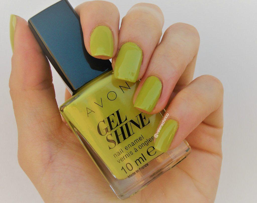 Avon GEL SHINE Citronized (Citronised), smalto effetto gel - review e swatch