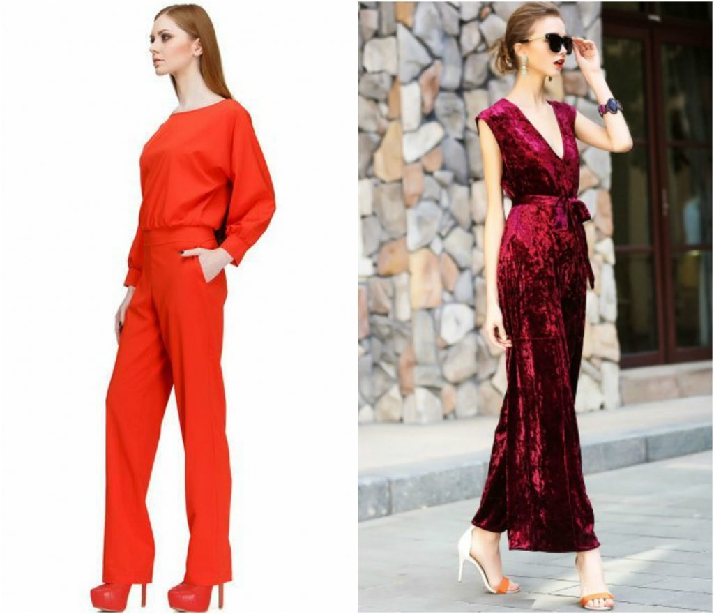 red-classy-jumpsuits-tute-eleganti-rosse