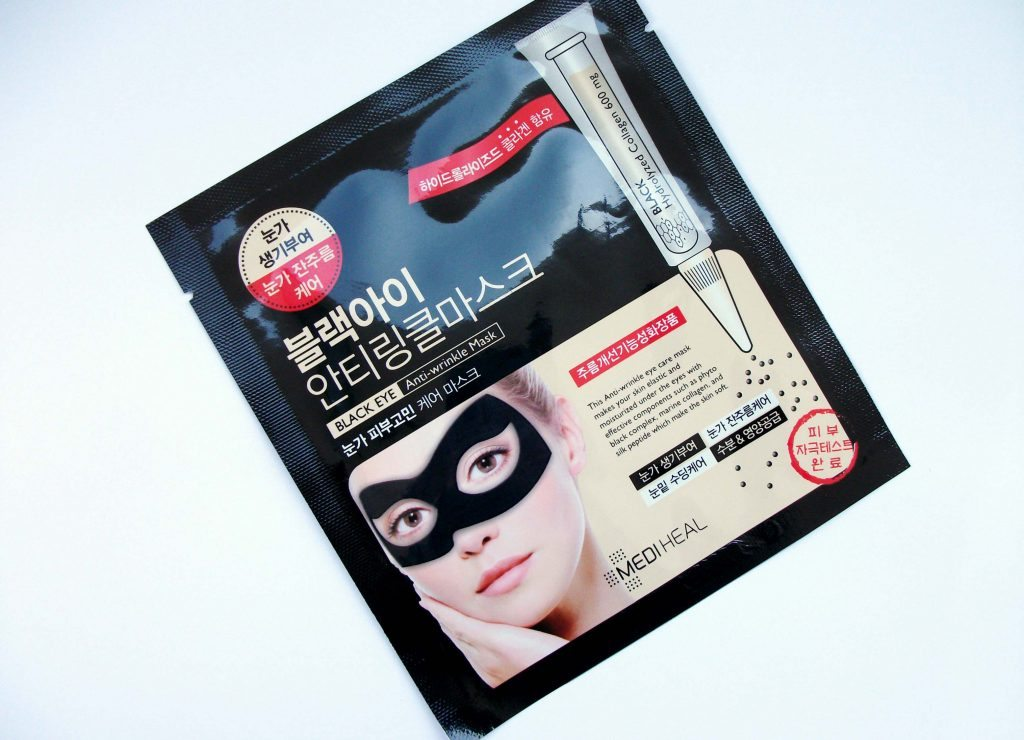 Mediheal - Black Eye Anti-wrinkle Mask, maschera in tessuto anti-età coreana con collagene e acido ialuronico, review