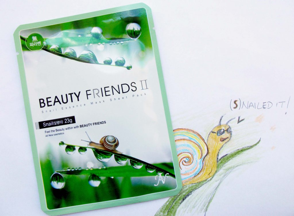 Beauty Friends II by Vanedo - Snail 23gr. maschera in tessuto rigenerante e idratante (review)