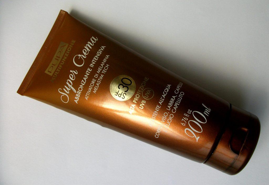 Pupa - Super Crema Abbronzante Intensiva SPF30 con attivatore di melanina. (review) Dorata e protetta dalla testa ai piedi con un solare?