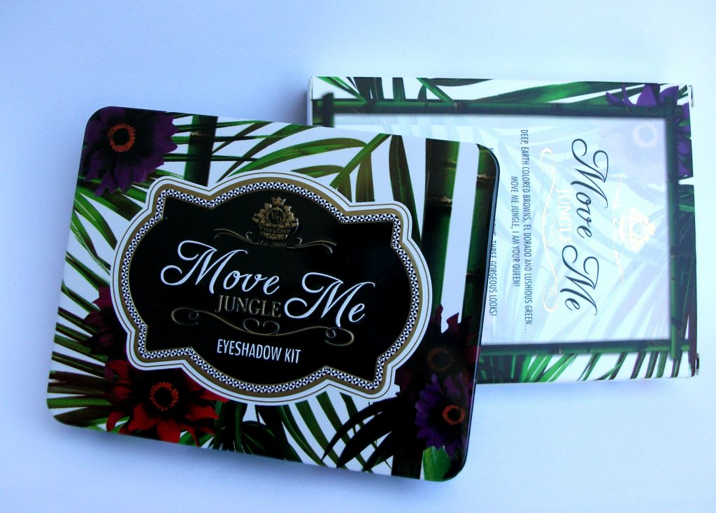 Viva La Diva - Move Me Jungle eyeshadow kit. Dettagli: packaging tropicale