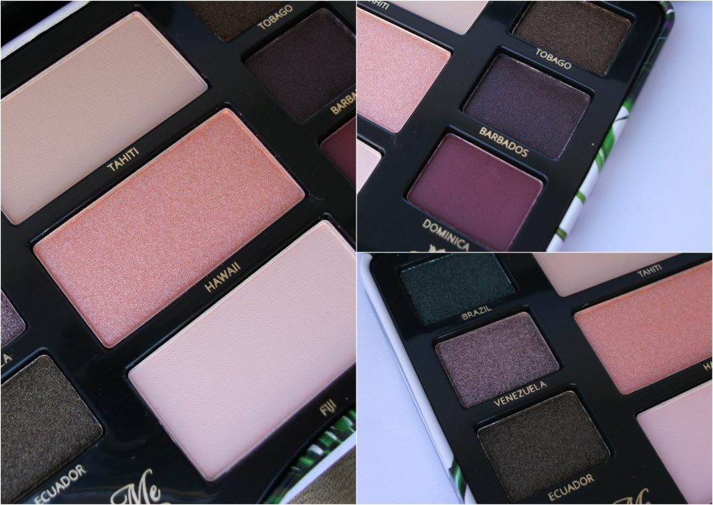 Viva La Diva - Move Me Jungle eyeshadow kit. Close-up: dettagli delle 9 cialde di ombretti matte, metallici e perlatii
