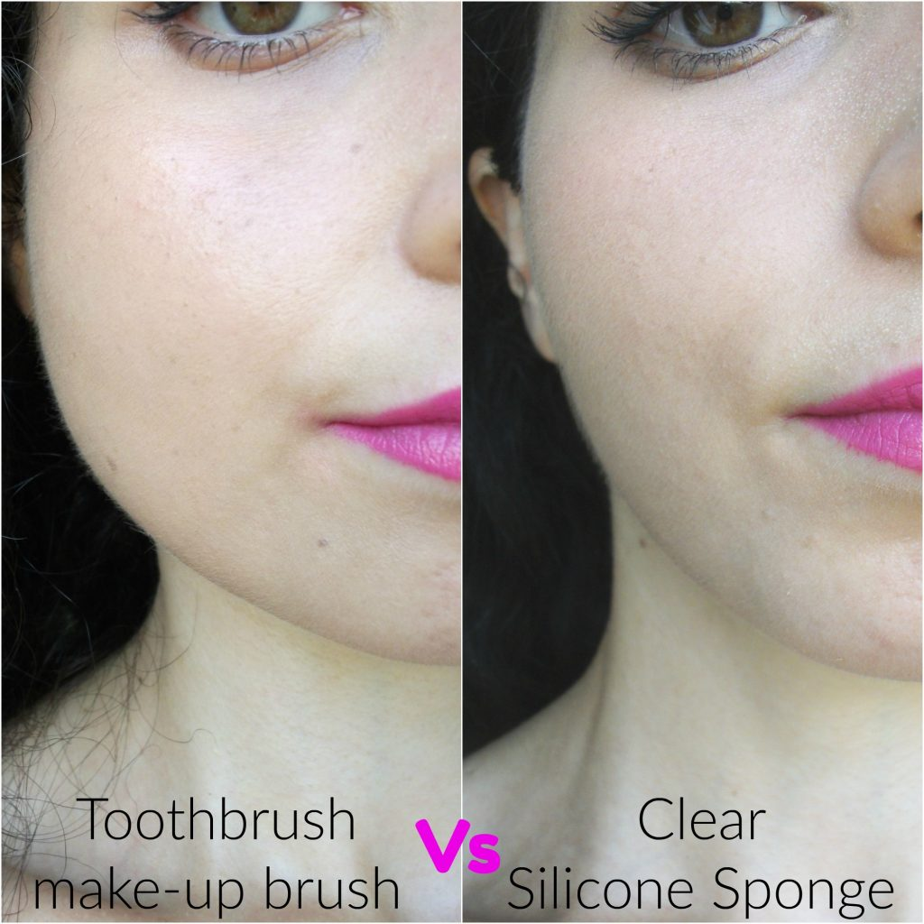 Beauty-Big-Bang-make-up-foundation-tools-clear-silicone-sponge-versus-toothbrush-brush-review